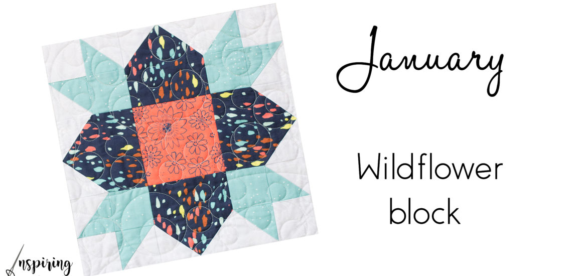 "12"" finished Wildflower Block"