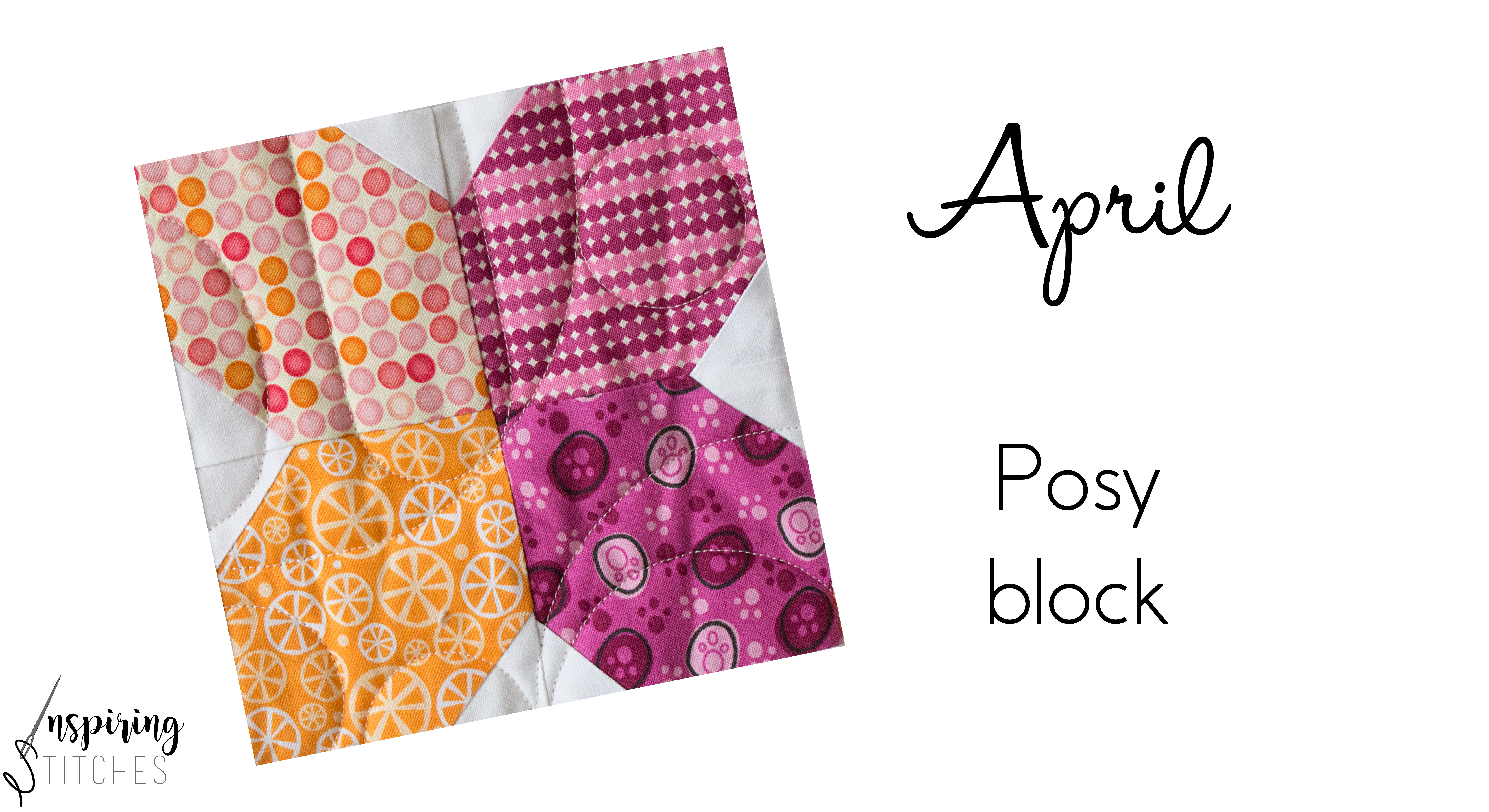 The posy block is a fast and simple sew quilt block.