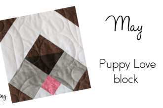 We are smitten with the Puppy Love block from Heartland Heritage. This quilt block is sew cute and easy to make.