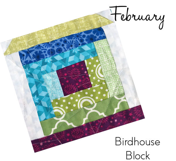 Birdhouse Block from Sew Hometown